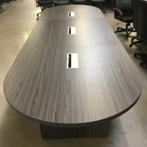 Gray 12' racetrack table