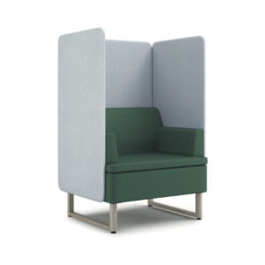 HON Astir One Seat Lounge with High-Back Screen