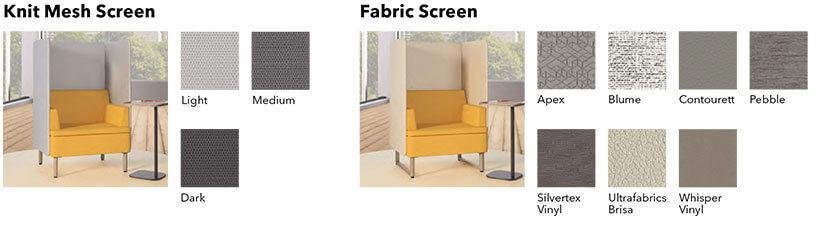 HON Astir Seating Screen Options