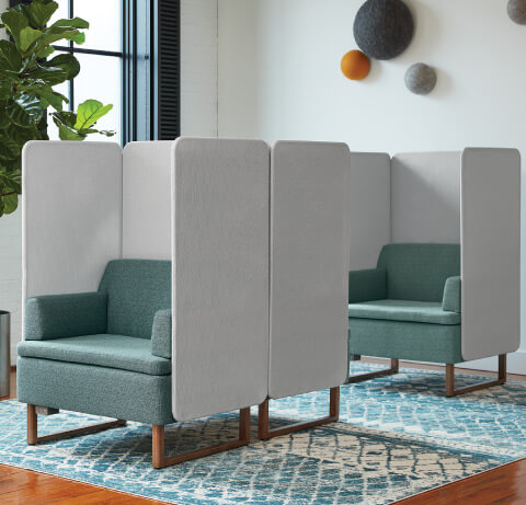 HON Astir Seating with Screens
