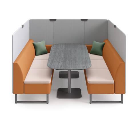 HON Astir Three Seat Lounge with High-Back Screen