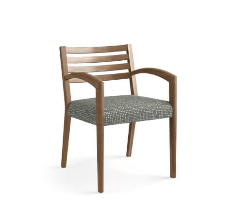 HON Cambia 2160 Guest Chair Grey Patterned Seat