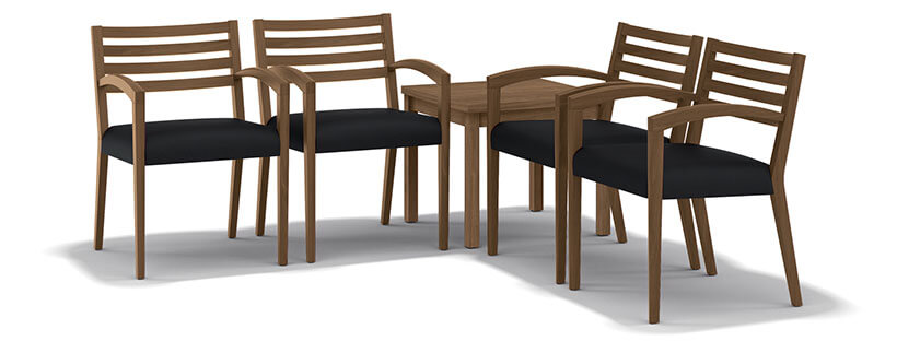 HON Cambia 2160 Guest Chair Wood Slat Back