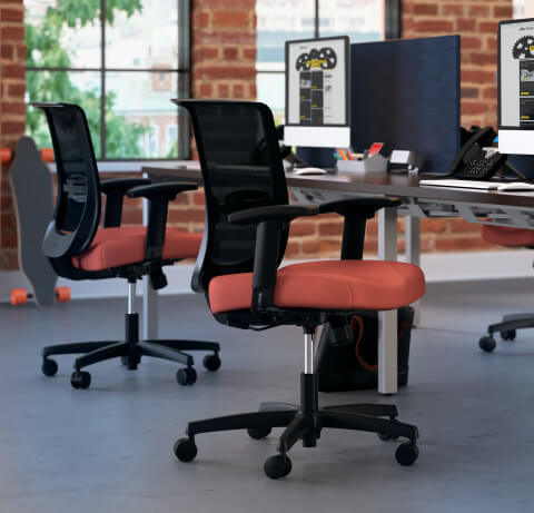 HON Convergence Task Chair Orange Seat