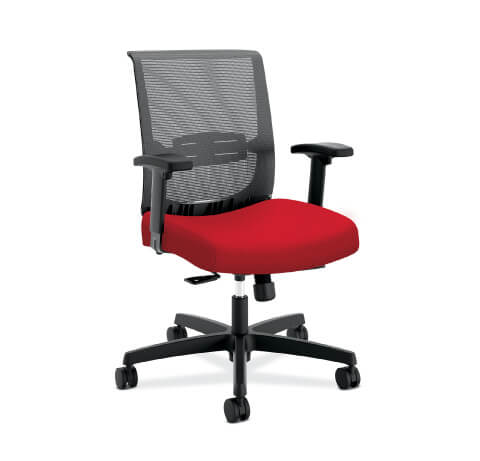 HON Convergence Task Chair Red Seat