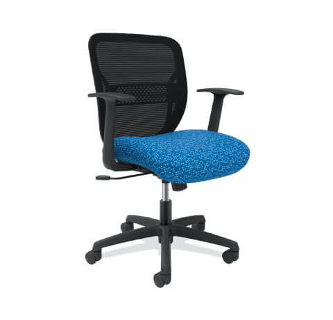 HON Gateway Task Chair Blue Seat