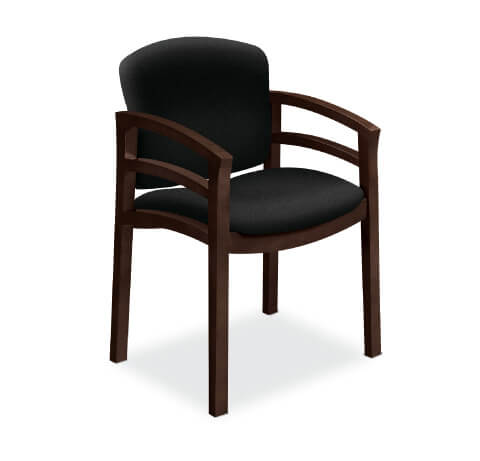 HON Invitation Guest Chair with Double Rail Arms