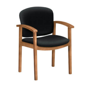 HON Invitation Wood Finish Guest Chair