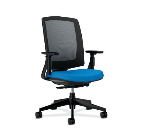 HON Lota Task Chair Blue Seat