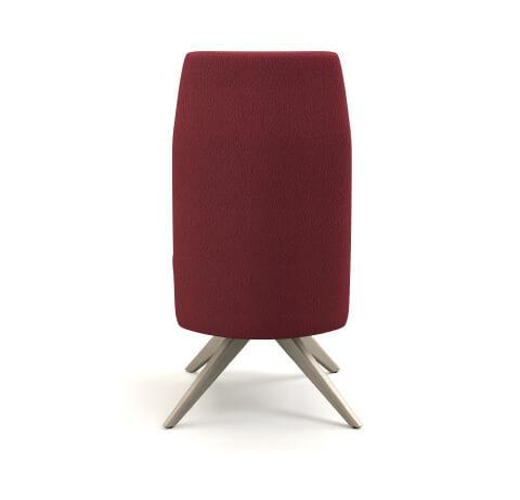 HON Mav 4-Leg Wood Base Chair Back View