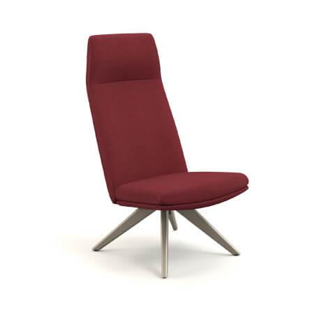 HON Mav 4-Leg Wood Base Chair Front View