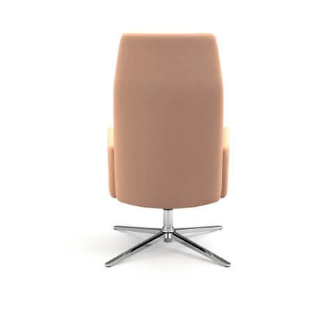 HON Mav 4-Star Metal Base Chair Back View