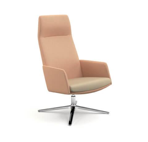HON Mav 4-Star Metal Base Chair Front View