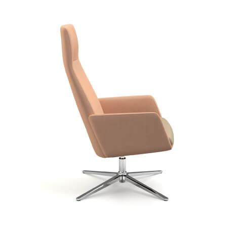 HON Mav 4-Star Metal Base Chair Side View