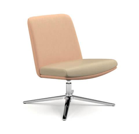 HON Mav Armless Mid-Back Chair with Metal Base