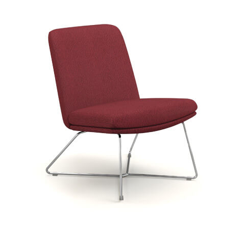 HON Mav Armless Mid-Back Chair with Wire Sled Base