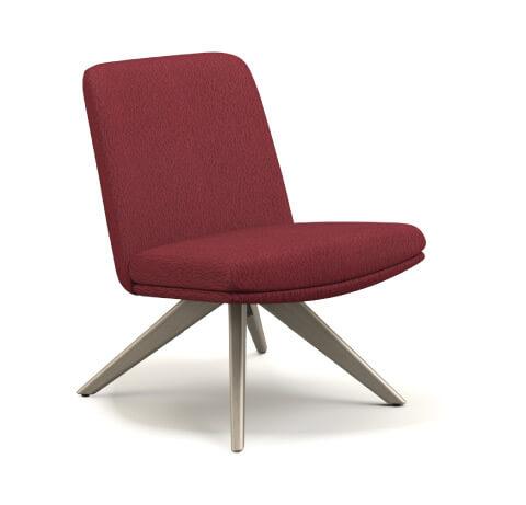 HON Mav Armless Mid-Back Chair with Wood Base