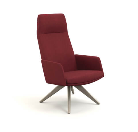 HON Mav High-Back Chair with Arms and Wood Base