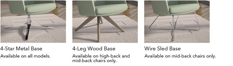 HON Mav Lounge Seating Base Options