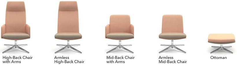 HON Mav Lounge Seating Model Options