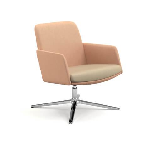 HON Mav Mid-Back Chair with Arms and Metal Base