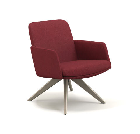 HON Mav Mid-Back Chair with Arms and Wood Base