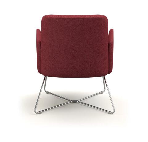 HON Mav Wire Sled Base Chair Back View