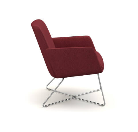 HON Mav Wire Sled Base Chair Side View