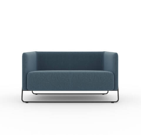 Friant Hanno Loveseat in Navy
