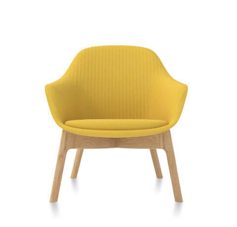 Friant Jest Lounge Chair in Canary